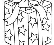 Coloriage et dessins gratuit Cadeau en couleur à imprimer
