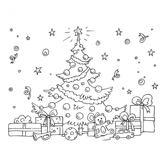 Coloriage et dessins gratuits Cadeau et Sapin de Noel à imprimer