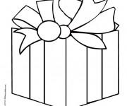 Coloriage Cadeau facile