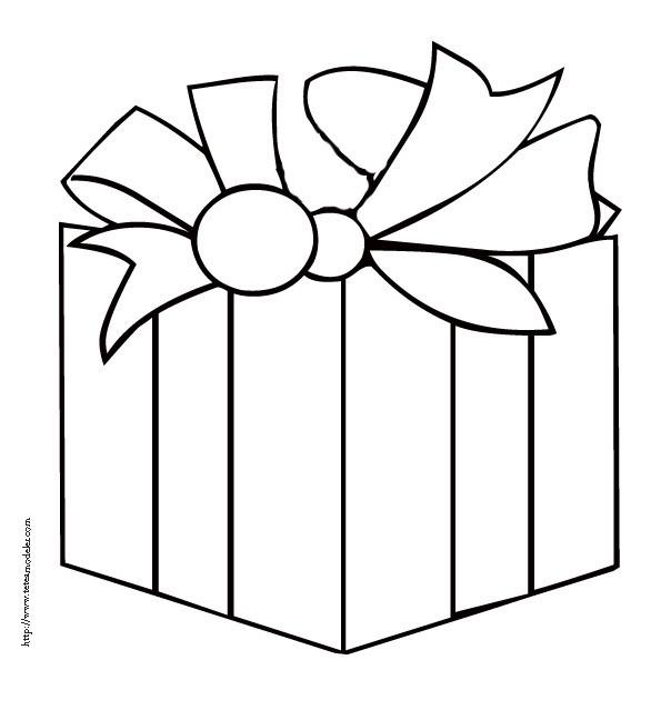 Coloriage cadeau facile dessin gratuit imprimer - Cadeau coloriage ...