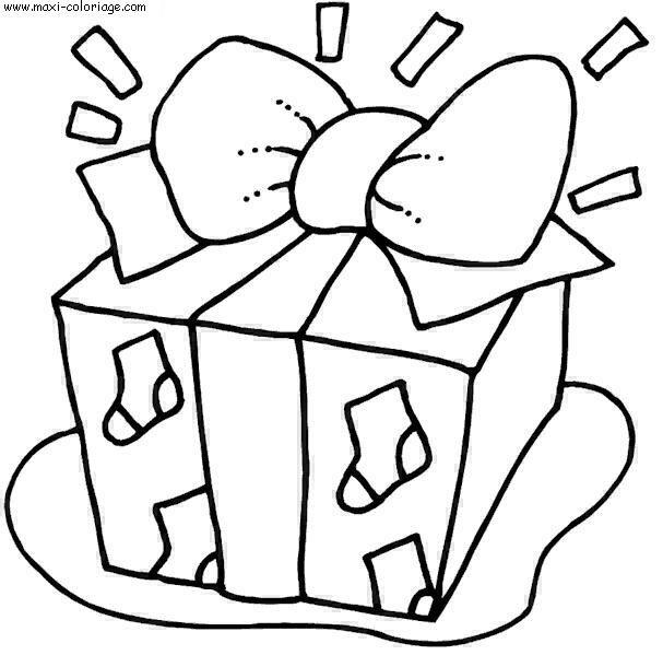 Coloriage et dessins gratuits Cadeau  superbe à imprimer