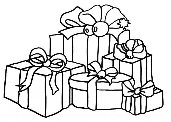 Coloriage et dessins gratuits Cadeaux de Noel en couleur à imprimer