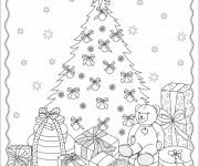 Coloriage Cadeaux de Noel stylisé
