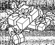 Coloriage Cadeaux et Fruits