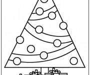 Coloriage Cadeaux et Sapin en Ligne