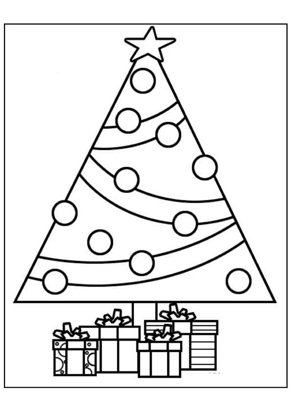 Coloriage cadeaux et sapin en ligne dessin gratuit imprimer - Coloriage d un sapin de noel ...