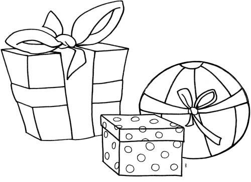 Coloriage et dessins gratuits Cadeaux pour petits à imprimer