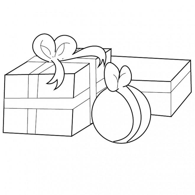 Coloriage et dessins gratuits Cadeaux Saint Valentin à imprimer