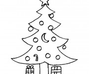 Coloriage Cadeaux sous le Sapin de Noel