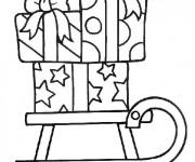 Coloriage Cadeaux sur Traîneau