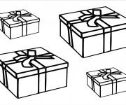 Coloriage et dessins gratuit Des Cadeaux d'anniversaire pour enfant à imprimer