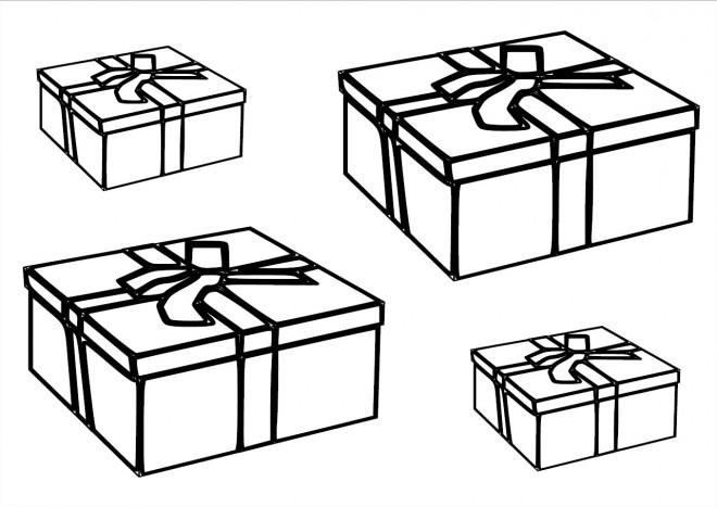 Coloriage Des Cadeaux D Anniversaire Pour Enfant Dessin Gratuit A