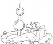Coloriage Le Noel et Les Cadeaux pour enfants