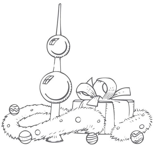 Coloriage et dessins gratuits Le Noel et Les Cadeaux pour enfants à imprimer