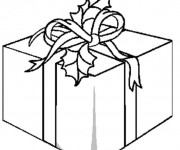 Coloriage et dessins gratuit Paquet Cadeau à imprimer