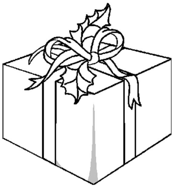 Coloriage et dessins gratuits Paquet Cadeau à imprimer