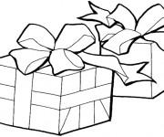 Coloriage Paquet de Cadeau de Noel maternelle