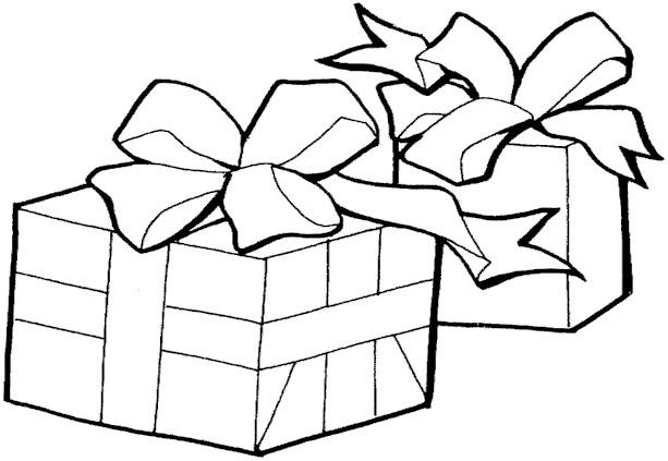 Coloriage et dessins gratuits Paquet de Cadeau de Noel maternelle à imprimer