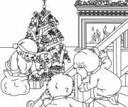 Coloriage Père Noël se fait prendre