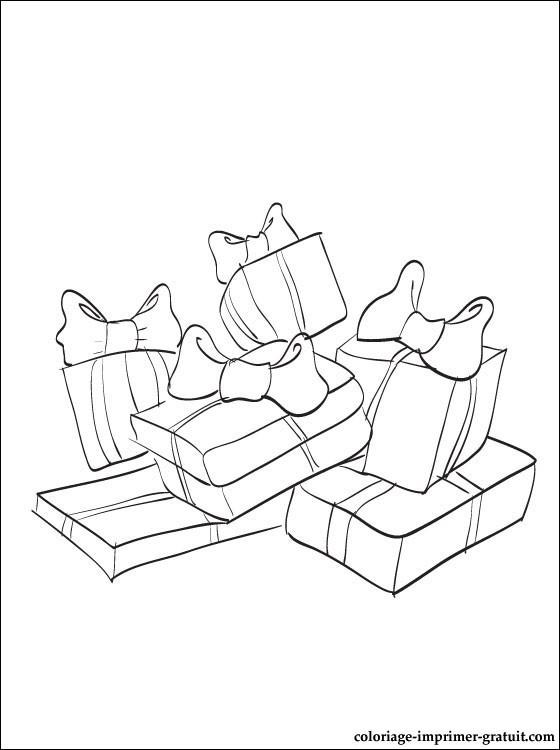 Coloriage et dessins gratuits Plein de Cadeaux d'anniversaire à imprimer