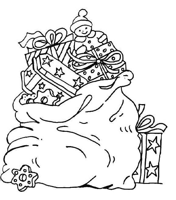 Coloriage et dessins gratuits Sac Cadeau de Noel à imprimer