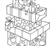 Coloriage Souris dort sur Les Cadeaux de Noel