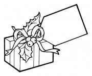 Coloriage et dessins gratuit Un Cadeau bien décoré à imprimer