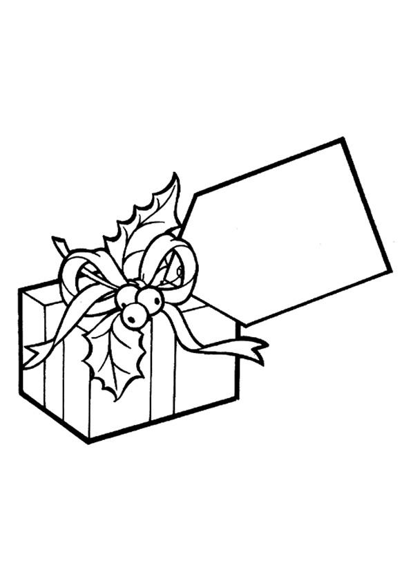 Coloriage et dessins gratuits Un Cadeau bien décoré à imprimer