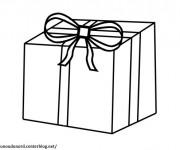 Coloriage et dessins gratuit Un Cadeau simple à imprimer