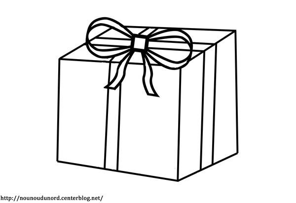 Coloriage et dessins gratuits Un Cadeau simple à imprimer