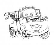 Coloriage et dessins gratuit Bagnole rigolote Disney à imprimer