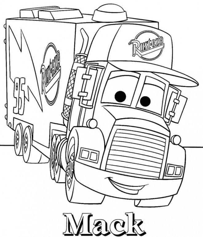 Coloriage camion disney dessin gratuit imprimer - Coloriage de cars gratuit ...
