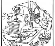 Coloriage Camion Mack troublé