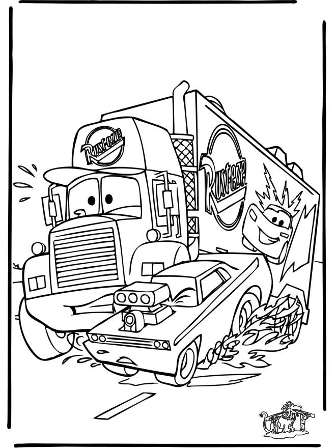 Coloriage et dessins gratuits Camion Mack troublé à imprimer