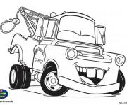Coloriage Car Martin rigole