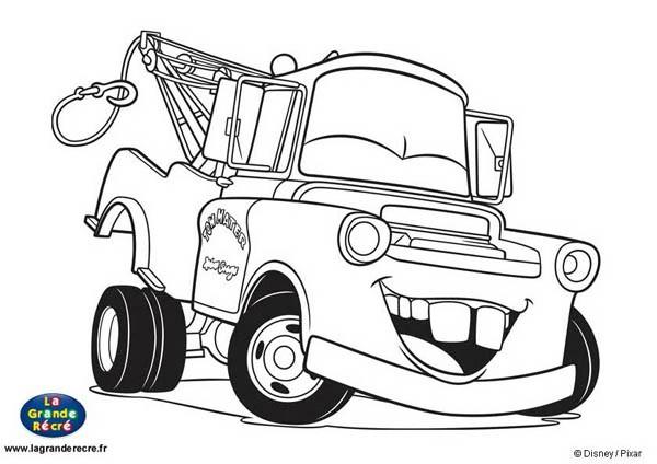 Coloriage car martin rigole dessin gratuit imprimer - Dessins a colorier cars ...