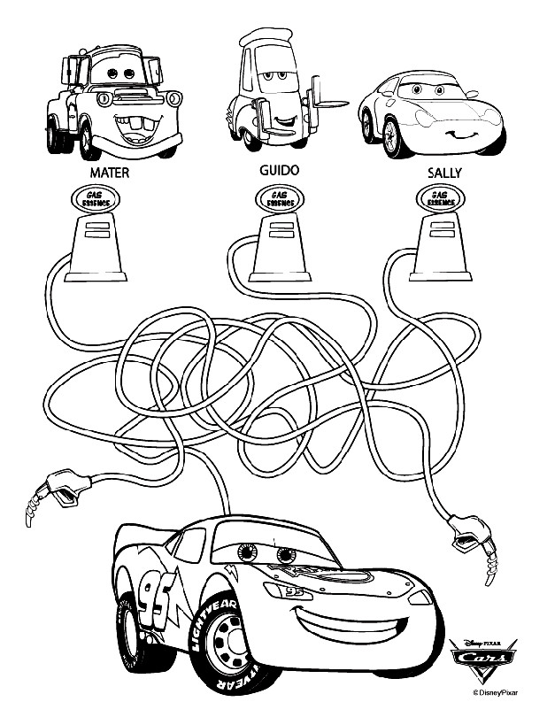 Coloriage et dessins gratuits Carburant de Flash Mcqueen Disney à imprimer