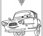 Coloriage Cars  à trois roues  Disney