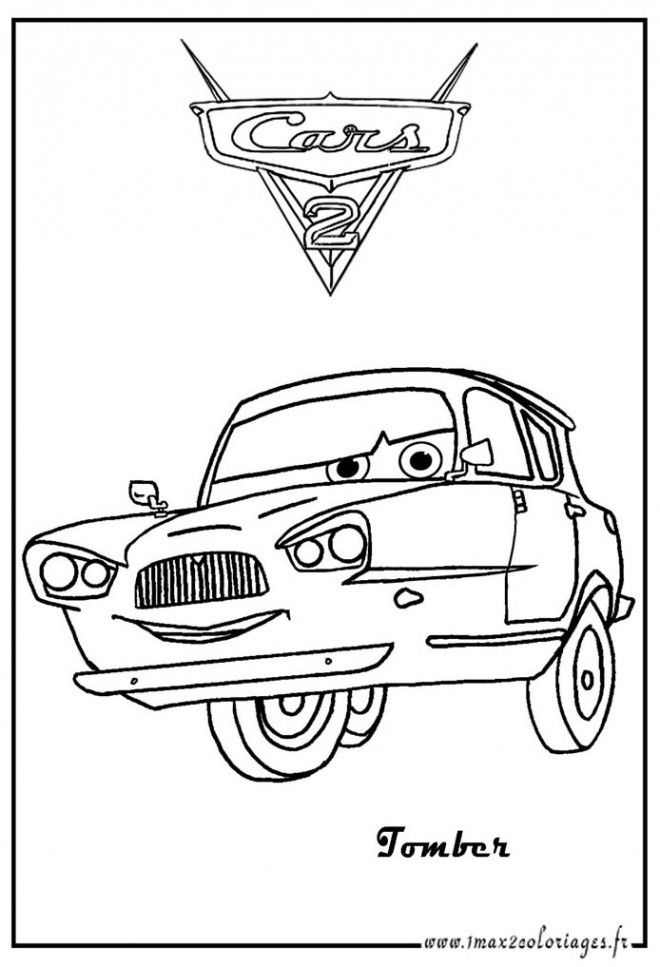 Coloriage Cars à trois roues Disney dessin gratuit à imprimer