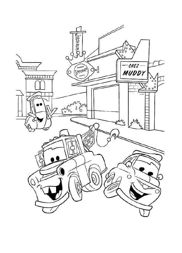 Coloriage et dessins gratuits Cars amusés à découper à imprimer