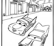 Coloriage Cars en course Disney