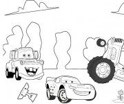 Coloriage et dessins gratuit Cars Flash disney à imprimer