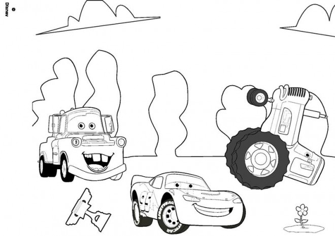 Coloriage et dessins gratuits Cars Flash disney à imprimer