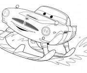 Coloriage et dessins gratuit Cars skieur à imprimer