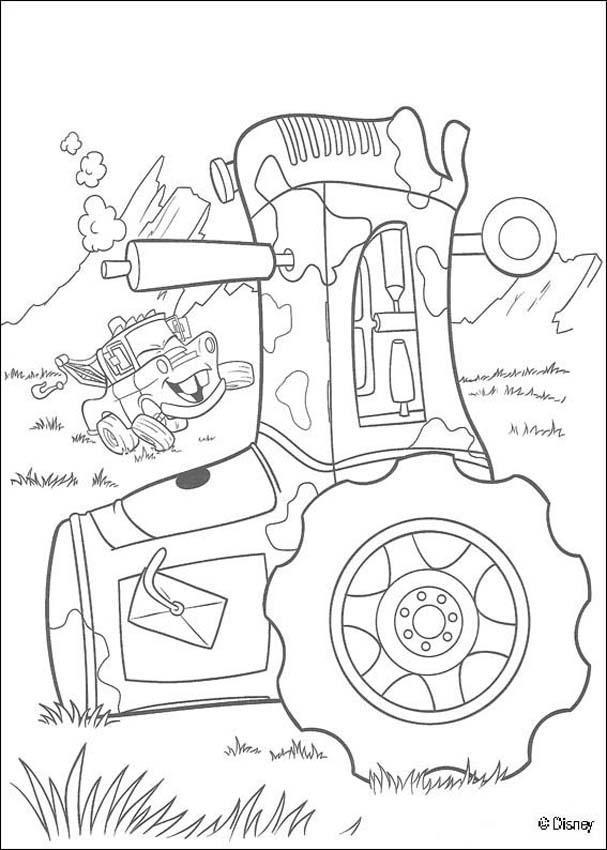 Coloriage et dessins gratuits Les voitures s'amusent dans la nature à imprimer