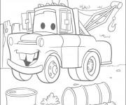 Coloriage et dessins gratuit Martin voiture de remorquage à imprimer