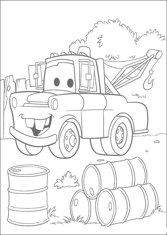 Coloriage et dessins gratuits Martin voiture de remorquage à imprimer