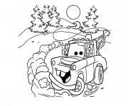Coloriage et dessins gratuit Martin voiture dessin animé à imprimer