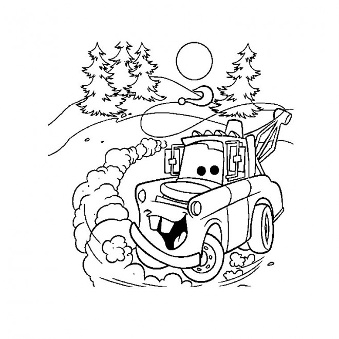 Coloriage et dessins gratuits Martin voiture dessin animé à imprimer
