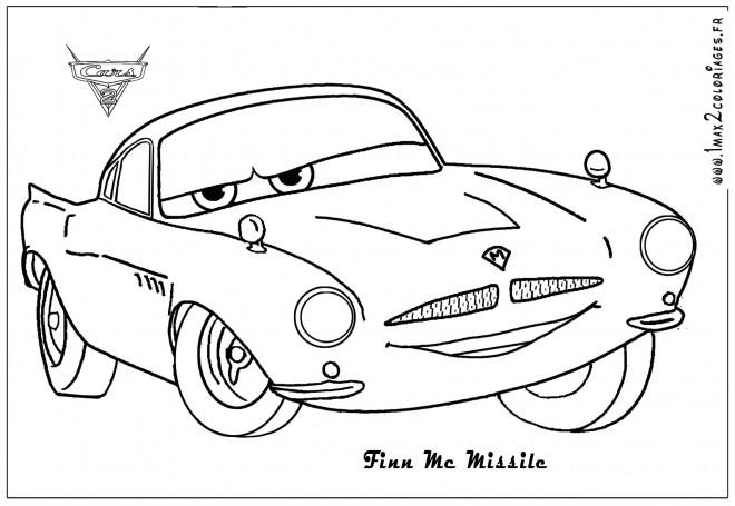 Coloriage et dessins gratuits Voiture Disney stylisé à imprimer